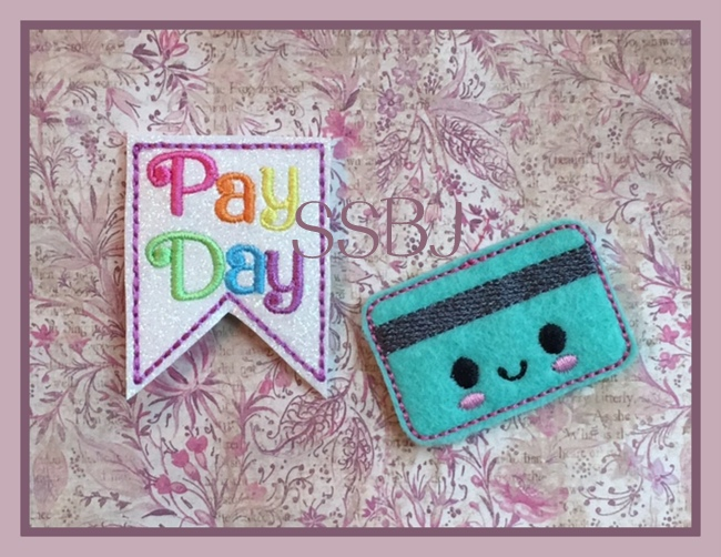 SSBJ Credit Card & Pay Day Banner Embroidery File