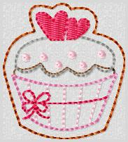 RR Daddy's Valentine Cupcake Embroidery File