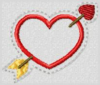Cupid's Arrow Embroidery File