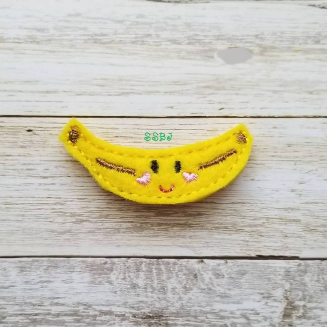 SSBJ Breakfast Cuties Banana Embroidery File