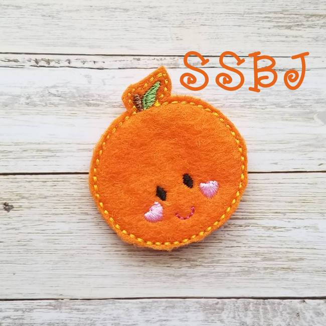 SSBJ Breakfast Cutie Orange Embroidery File