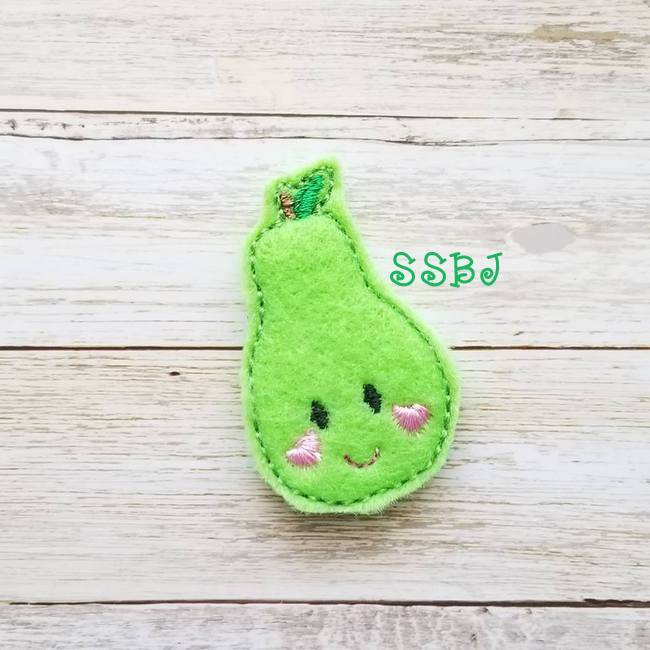 SSBJ Breakfast Cuties Pear Embroidery File