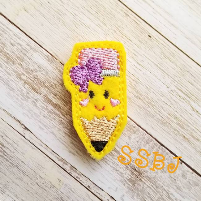 SSBJ School Cutie Pencil Embroidery File