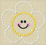 Daisy Face Embroidery File