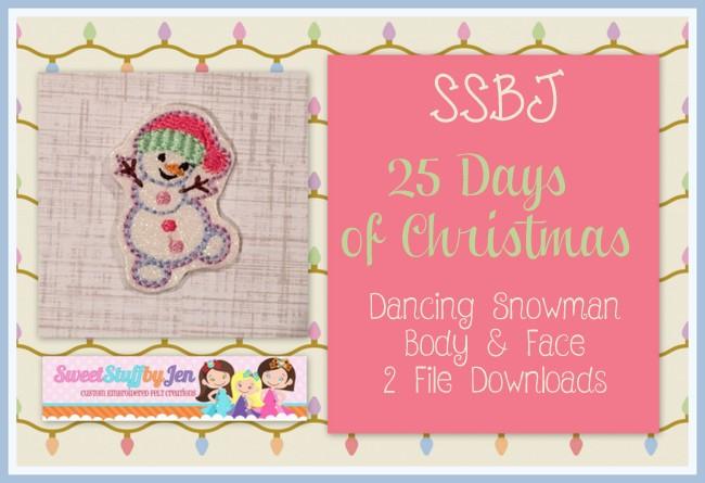 SSBJ Dancing Snowman Embroidery File