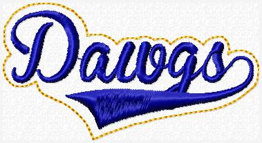 Dawgs Glam Band Embroidery File