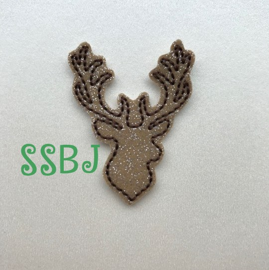 SSBJ Deer Head Outline Embroidery File
