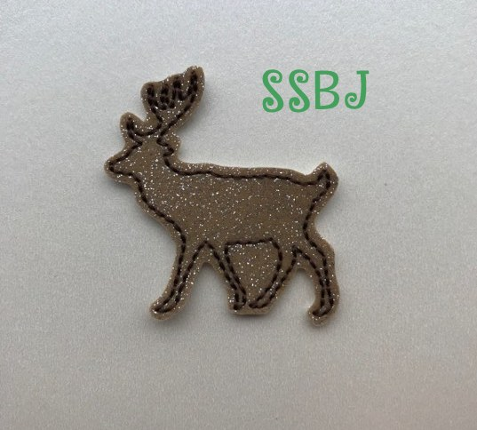 SSBJ Deer Body Outline Embroidery File