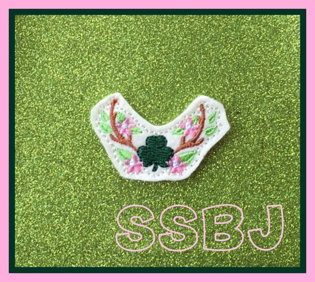SSBJ Deer Horns Clover Embroidery File