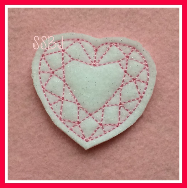 Heart Diamond Embroidery File