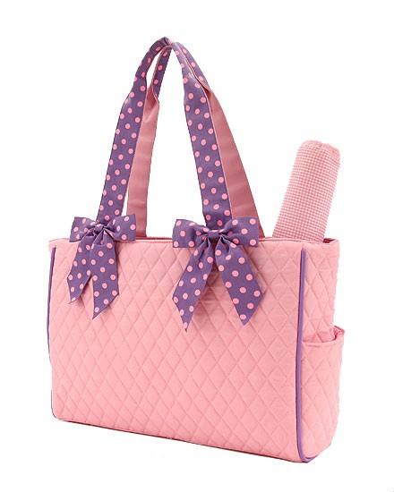 Medium Diaper Bag-Pink & Lt. Purple