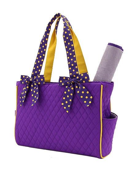 Medium Diaper Bag-Purple & Yellow