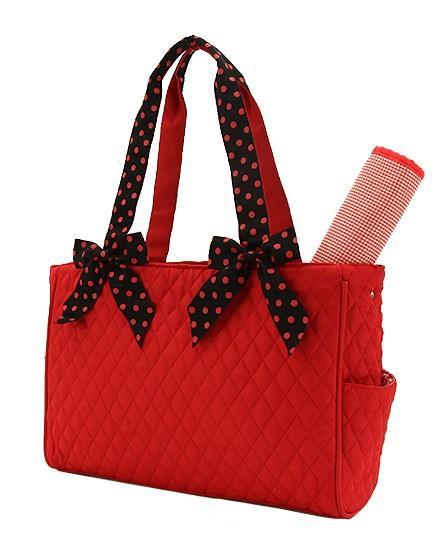 Medium Diaper Bag-Red & Black