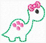 Dino Embroidery File Feltie