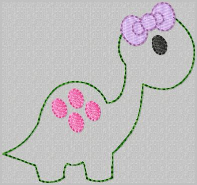 Dino Feltie Keeper Embroidery File