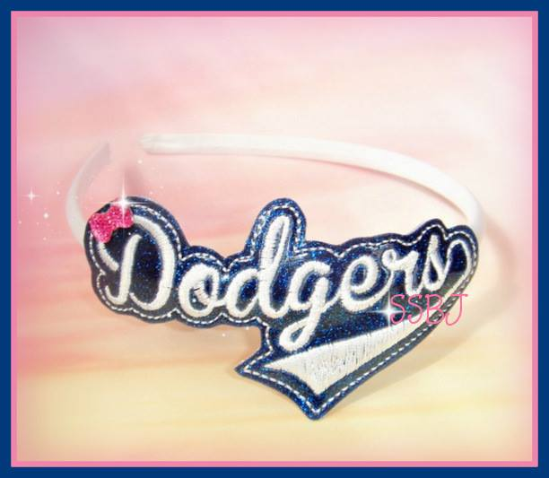 Dodgers Glam Band Embroidery File