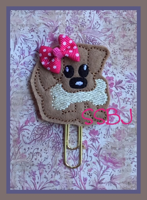 SSBJ Dog Bone Embroidery File