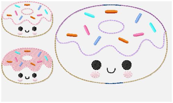 Donut Multi Sprinkle Embroidery File