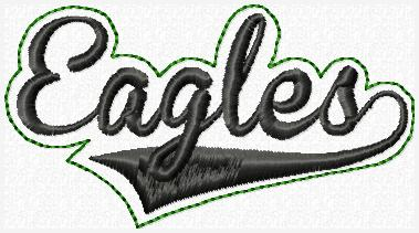 Eagles Glam Band Embroidery File