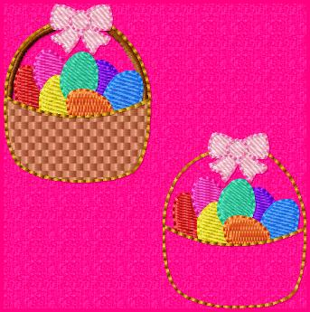Easter Basket Embroidery File