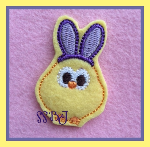 Easter Bunny Chick Embroidery File