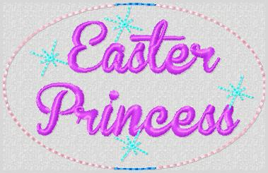 Easter Princess Embroidery File