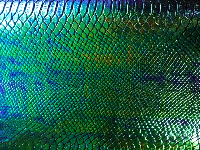 Mermaid Tail Eel Snake Skin Embroidery Vinyl