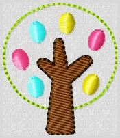 Easter Egg Tree Embroidery File