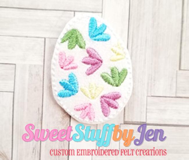 SSBJ Flower Petal Egg Embroidery File