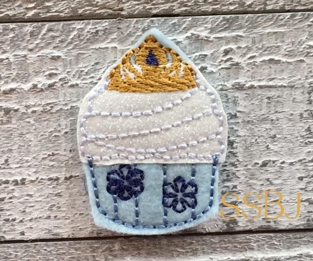 SSBJ Elsa Cupcake Embroidery File