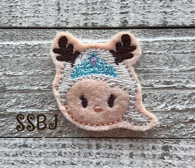 SSBJ Tum Elsa Frozen Reindeer Embroidery File