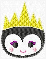 Evil Queen Villain Embroidery File