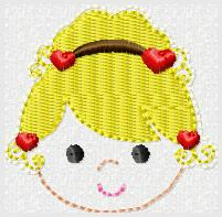 Lil Valentine Embroidery File-Fairy Girl