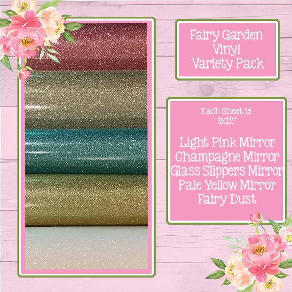 Fairy Garden Mirror Vinyl Variety Pack