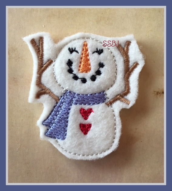 Falling Snowman Embroidery File