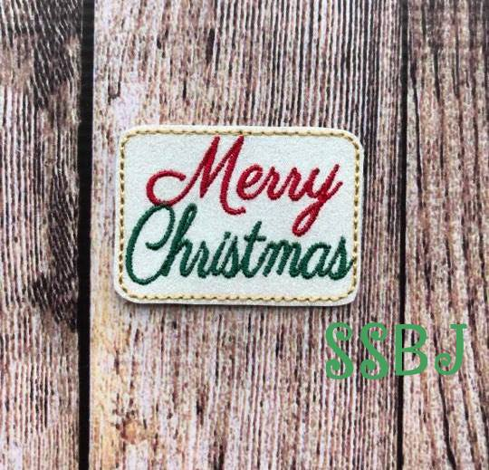SSBJ Fancy Merry Christmas Embroidery File