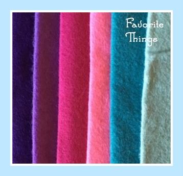 Favorite Things  Wool Felt Bundle