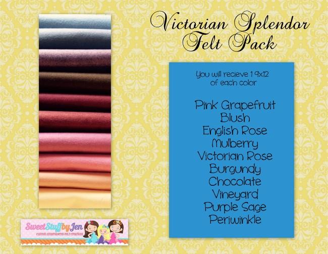 Victorian Splendor Felt Pack