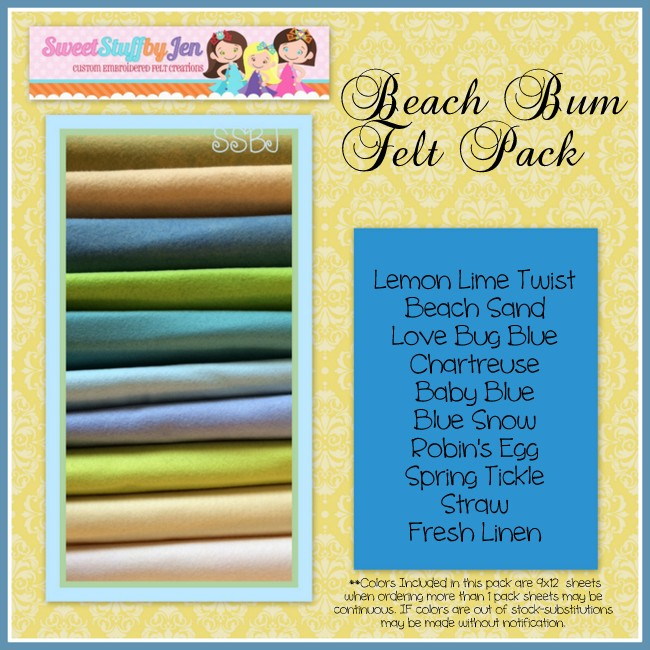 Beach Bum Variety Felt Pack