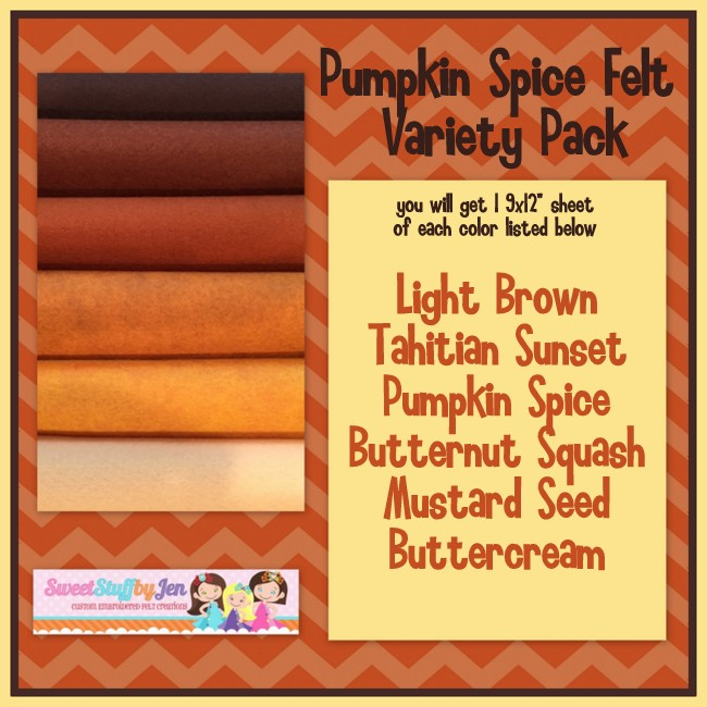Pumpkin Spiced Latte Felt Variety Pack