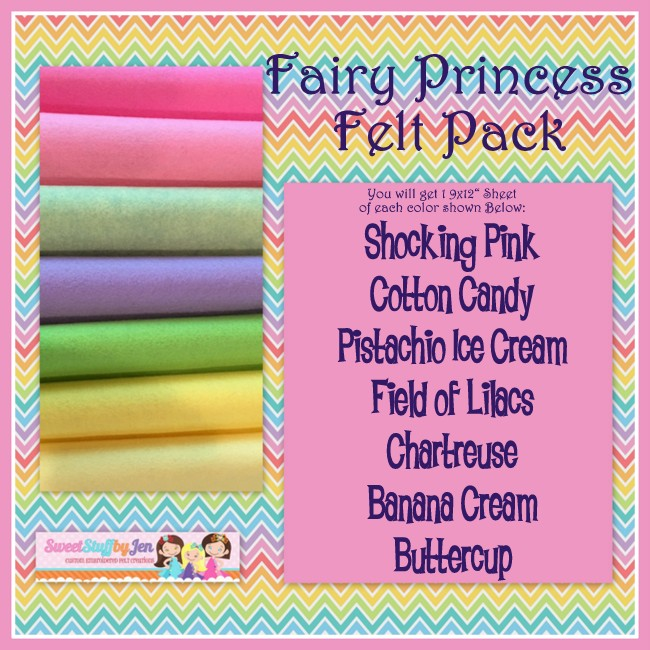 Fairy Princess Wool Blend Felt Pack