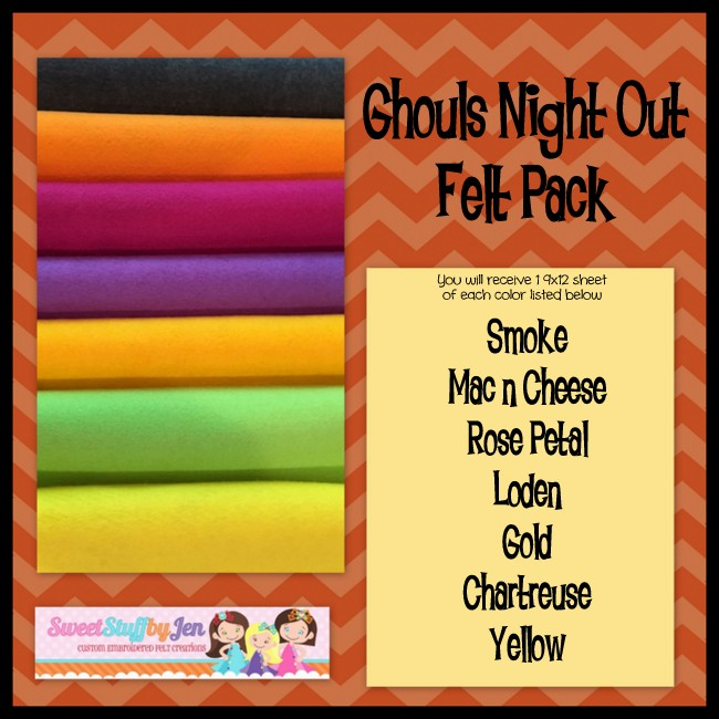 Ghouls Night Out Wool Blend Felt Pack