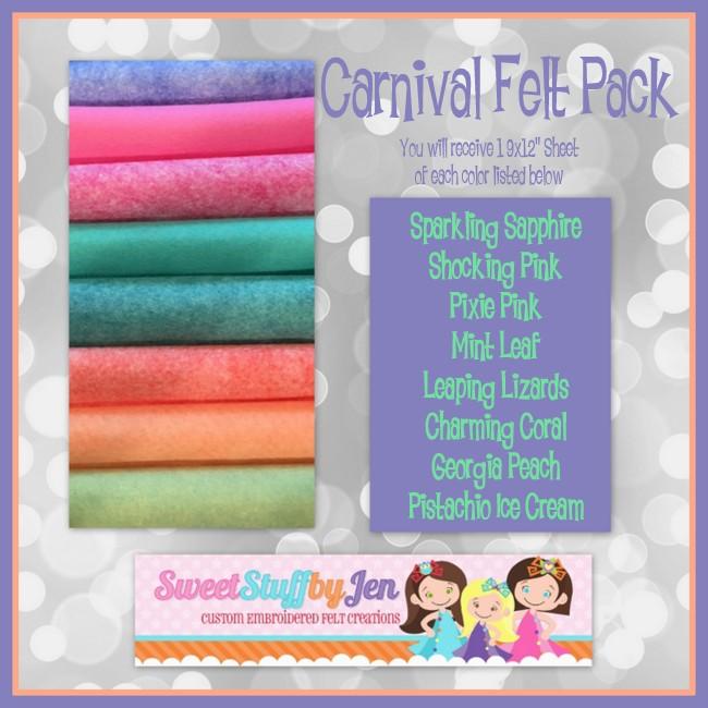 Carnival Wool Blend Felt