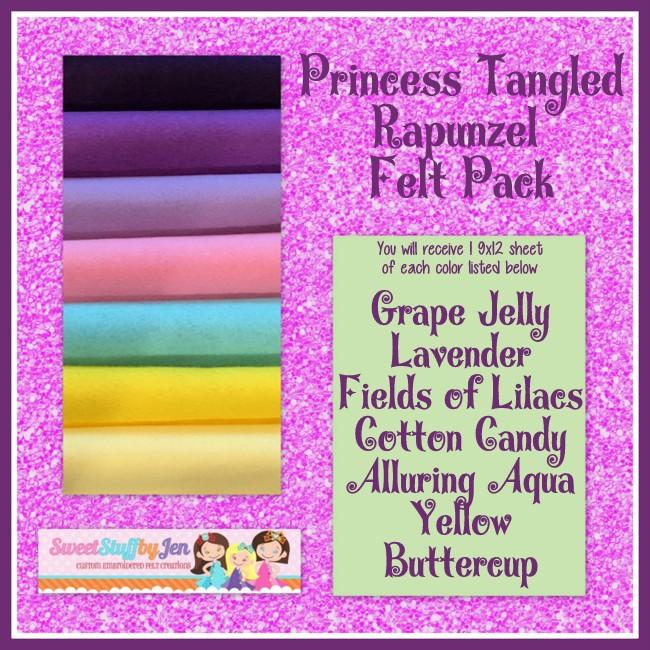 Tangled Rapunzel Wool Blend Felt Pack