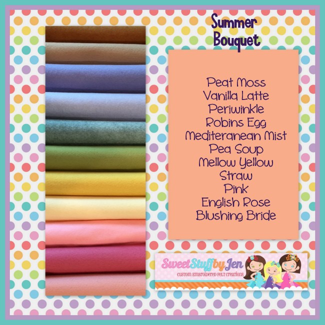 Summer Bouquet Wool Felt Variety Pack