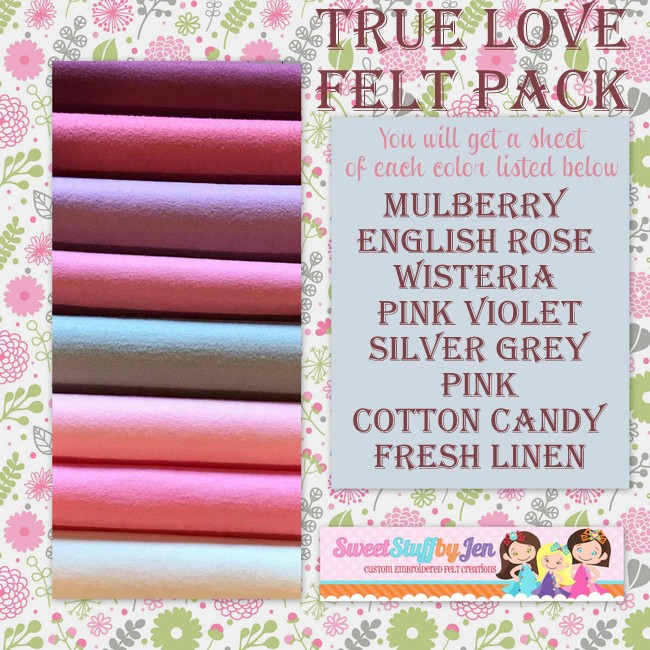 True Love Felt Pack