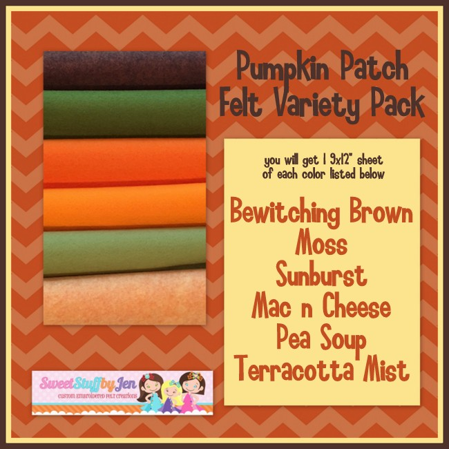 Pumpkin Patch Felt Variety Pack