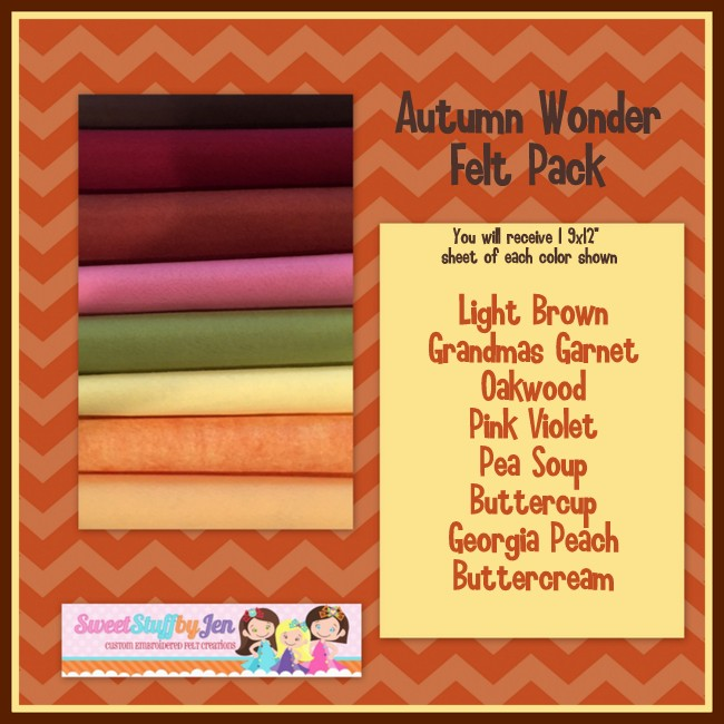 Autumn Wonder Felt Variety Pack