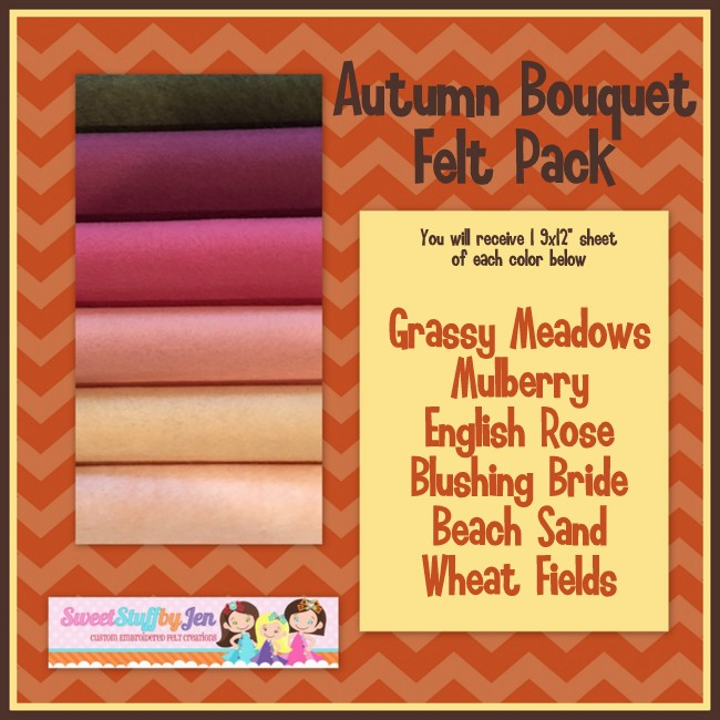 Autumn Bouquet Felt Variety Pack