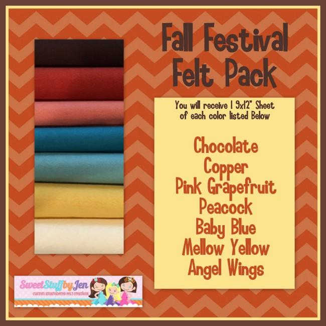 Fall Festival Felt Pack